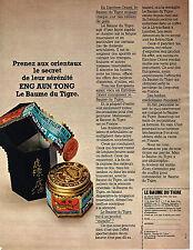 PUBLICITE ADVERTISING 014   1971   LE BAUME DU TIGRE