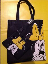 NEW Disney Minnie Mouse Tote Shopper Bag & Matching Pencil Case / Make-up Bag