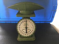 Vintage American Family Scale with Scoop 1906 Model Green w/Eagle Decals 25 lb.