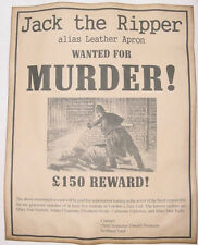 Jack the Ripper Wanted Poster. Great Halloween Decor Item.