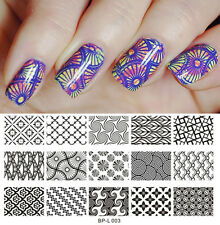 Nagel Schablone BORN PRETTY L003 Nail Art Stamp Stamping Template Plates