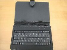 Micro USB 9 inch Leather Stand Case with keyboard  for 9'' tablet Black UK