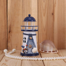 RGB LED Light Metal Lighthouse Maritime Ornament Beach Home Nautical Decor #A