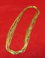 WHOLESALE LOT OF 24 14KT GOLD EP 20 INCH   1MM COBRA NECKLACES