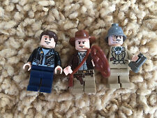 3 Lego Indiana Jones Minfigures Mutt Williams Henry Sr. Jones  Lot 2 7623 7622