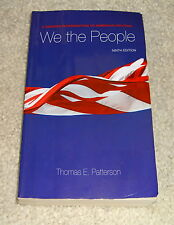 We the People by Thomas E. Patterson (2010, Paperback)