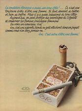 Publicité Advertising  cigarettes EVE