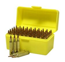 Ammo Box 50rnd Ammunition Safe Storage Gun Rifle Bullet Case 204 222 223 Rifle