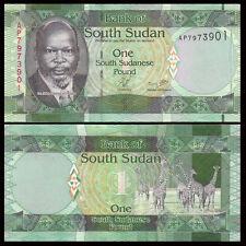 South Sudan SD SUDN, 1 Pound, 2011, P-5, UNC