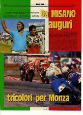 W33 Ritaglio Clipping 1987 Motomondiale festa Reggiani Cadalora e Gresini