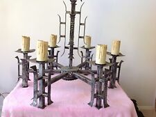 Vintage Chandelier Chinoiserie Asian Oriental Pagoda Not Faux Bamboo