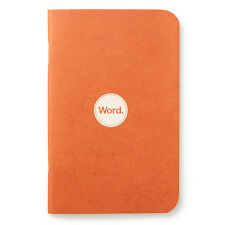 "Pack of 3 Word Notebooks, Pocket Size, 3.5"" x 5.5"", Orange"
