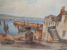 WATERCOLOR ON PAPER TH VICTOR ARTIST SIGNED NEWLYN HARBOUR