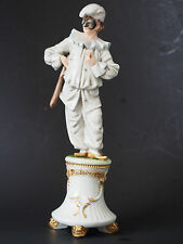 Capodimonte King's Merli~Pulcinella Figure Commedia Arte Punch Mask Punchinello