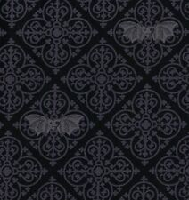 Michael Miller Gothic Vampire Bats on Grey and Black Cotton Fabric - FQ