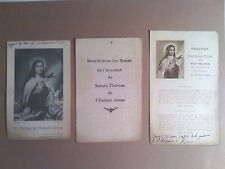 LOT de 3 IMAGES / SIGNETS ANCIENS : SAINTE THERESE de l'ENFANT-JESUS, 1927