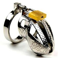 Male Chastity Device Stainless Steel Male Sprinkler Chastity Cage The Snake skin