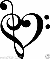FUNNY VINYL CAR TRUCK WINDOW STICKER DECAL LOVE MUSIC NOTE HEART BAND TREE
