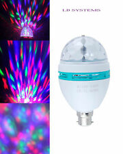 Novelty RGB LED Disco Light Bulb Rotating Coloured 3W Light bulb CHRISTMAS  B22