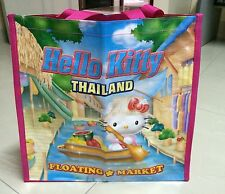 Sanrio Hello Kitty   floating market   in Thailand shopping tote bag .. Limited