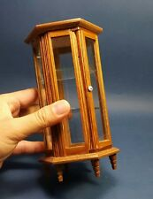 Vintage Dollhouse Miniature Furniture Display Cabinet Showcase Shelf Wood 1:12