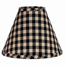 10 inch Black Check Lamp Shade Home Collection by Raghu Heritage House Cotton