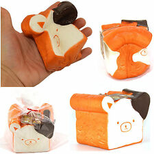 Newly 11CM Jumbo Rilakkuma Squishy Cellphone Strap Bread Scent Toast Slow Rising