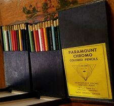 3 BOXES NOS VINTAGE PARAMOUNT CHROMO COLORED PENCILS EXCEPTIONALLY STRONG COLORS