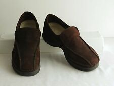 BJORNDAL Soft Brown Suede  Slip-On Leather Comfort Shoes Loafers 6B (M, Medium)