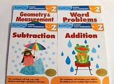 Kumon Math Workbooks Grade 2 Set (4 Books) -- Free Shipping!!!