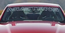 """New Ford Mustang White Windshield Banner Decal 45"""" x 3.5"""" Letter Outline"""