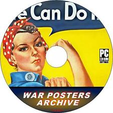 4500+ WAR POSTERS  COLLECTION ON PC-CD HISTORIC PROPAGANDA FROM WW2 ERA NEW