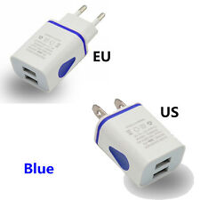 2.1A 5V LED 2 USB Wall Charger Travel Adapter Fast Charging EU US Plug For Phone