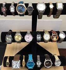 Watch Lot Of 21 Analog Quartz Watches~Armitron Seiko Ann Klein Citizen~All Work