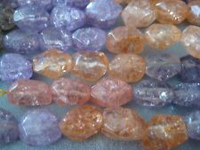 Multi Candy Quartz Beads Faceted Nuggets 24pcs