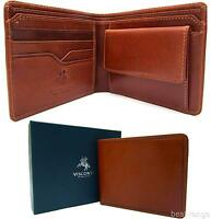 Mens Bifold Wallet Real Leather New in Gift Box Tan Visconti Quality VCN 19