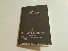 Used - Booklet BAUME & MERCIER Riviera - Instructions - For Collectors - Usado