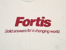 Vintage Fortis Electricity Utilities Electric Company Solid Answers T Shirt XL