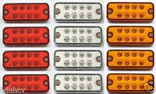 12 uds. 12V LED Intermitente Lateral Blanco Ámbar rojo Luces para Iveco Daily