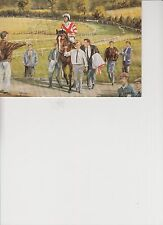 LESTER PIGGOTT AUTOGRAPHED CARD WITH LETTER FROM HIS WIFE INSIDE