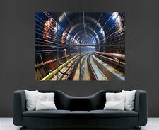 SUBWAY TUBE UNDERGROUND TUNNEL RAILWAY  WALL POSTER ART PICTURE PRINT LARGE