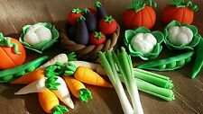 24 Edible icing vegetables gardening birthday, allotment , cake topper set
