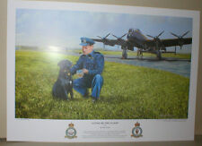 """Guy Gibson O.C. 617, 'The DAMBUSTERS', Avro LANCASTER B.3S,Dog & Crests,17 x 12"""""""