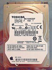 """HDD 750GB 5400RPM 2.5"""" Laptop Hard Drive / Toshiba  MK7559GSXF HDD2J60 TV01"""
