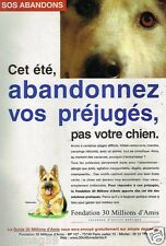 Publicité advertising 1997 Fondation 30 Millions d'Amis