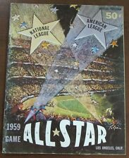 1959 MLB Baseball ALL Star Game Program @ LA Coliseum Mantle Mays Musial Ex+