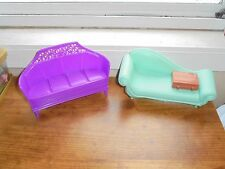 Barbie Doll Furniture Couch Sofa Suitcase Accessories Lot Toys