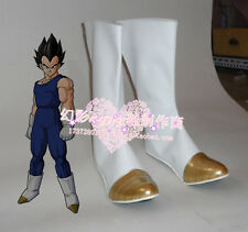 Dragon Ball Z Vegeta Halloween White Long Cosplay Shoes Boots H016