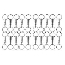 lot 20pcs Detachable Pull Apart Quick Release Keychain Key Rings Two Split Rings