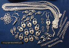 Heart pad lock key jewelry making kit make 3 necklaces bracelets earrings kit010